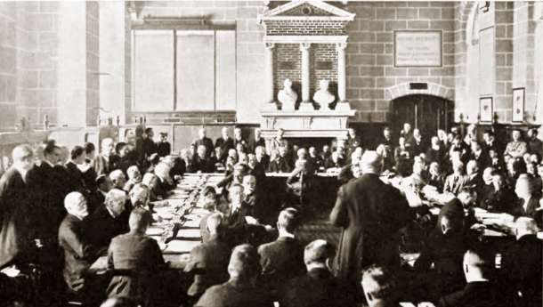 Paris Peace Conference, Palace of Versailles, 1919.