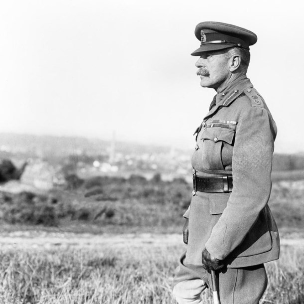 Sir Douglas Haig portrait surveying the ground