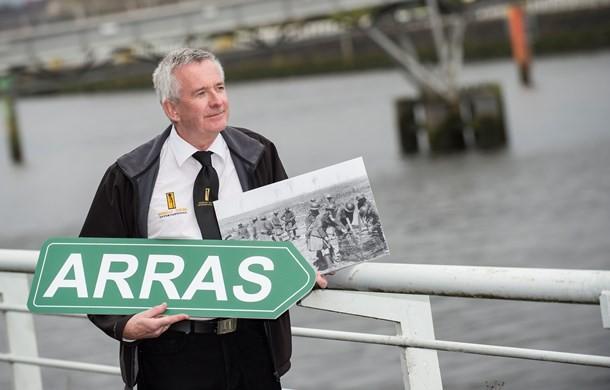 Des Brogan, Mercat Tours International, prepares for the 100th Commemoration trip to Arras