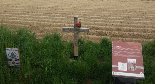 The site of the Christmas truce, WW1